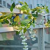 Luces con LED, Realista Vid Guirnalda Luz de La Secuencia Creativa Funciona con Pilas, Árboles de Navidad Decorativa Alambre de Flores de Glicina Luz