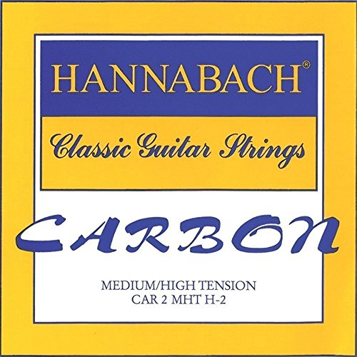 Hannabach 652719 Klassikgitarrensaiten CARBON Medium / High Tension Diskant - 3er Diskant