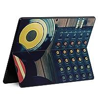 igsticker Surface Pro X 専用スキンシール サーフェス プロ エックス ノートブック ノートパソコン カバー ケース フィルム ステッカー アクセサリー 保護 012566 レコード 音楽 かっこいい