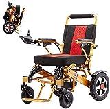 YXYNB Fauteuil Roulant électrique Pliable, Fauteuil Roulant léger, Scooter de Fauteuil Roulant électrique...