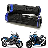 7/8' Puño de Motocicleta Manillar, Moto Manillar Aluminio para CBR Shadow Ninja GSXR YZF (Azul)