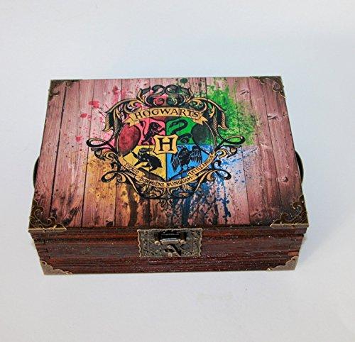 Exklusive Teebox ,Tee, Tea, Teebeutel ,Teekiste , wood, Harry Potter Heiligtümer des Todes,Hogwarts