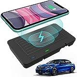 Chargeur Sans Fil de Voiture 10W Qi Chargeur de Téléphone à Chargement Rapide Compatible avec BMW...
