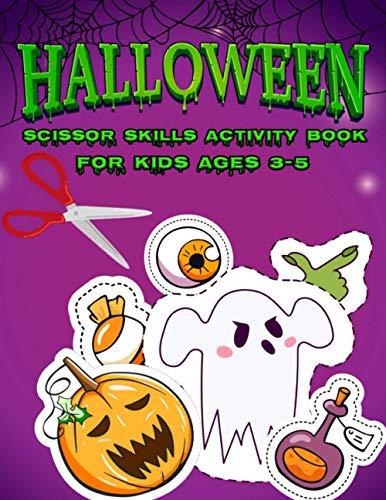 [画像:Halloween Scissor Skills: Activity Book For Kids Ages 3-5 | Find and Cut Halloween Pumpkins, Ghosts, Witches and More | Funny Guessing and Cutting Workbook For Toddlers and Preschoolers | (Halloween Activity Books)]