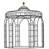 Pavillon, Gartenpavillon, Pavillon Metall, Gartenlaube, Eisenpavillon Antwerpen Ø 260 cm (Eisenblank)
