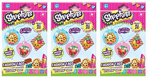 Shopkins Season 1 Fashion Tag Mystery 3 Pack set [Styles And Colors Will Vary]