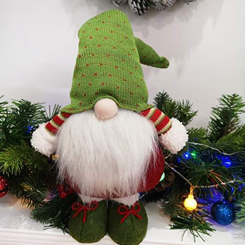 Bstaofy Handmade Plush Swedish Tomte Nisse Figurines Gnome Christmas Santa Claus Elf Home Desktop Collectible Doll…