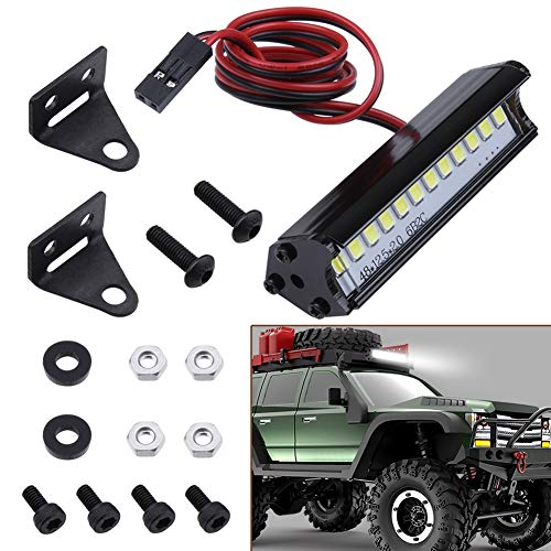 Hobbypark RC Crawler LED Light Bar Kit Roof Spotlight Dome Light Simulation for Traxxas TRX-4 Trx4 Axial SCX10 90046 RC4WD D90 KM2