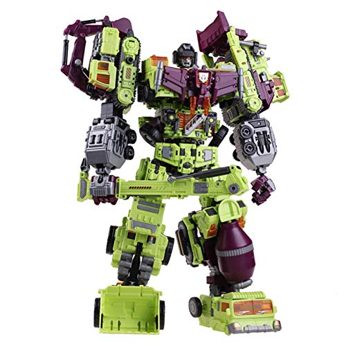 AJIAO Deformation Robot Toys Generations War for Cybertron Classic Grimlock Toy Assembly Models Toys Devastator 6IN1 Sets