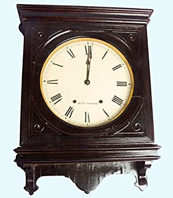 Antiques World Antique Wooden Collectible Old Vintage Royal Stand Clock Seth Thomas AWUSAHB 082