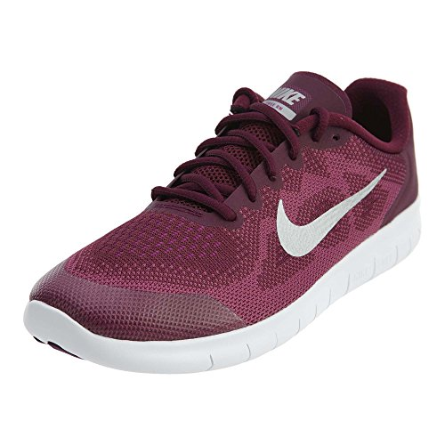 Nike Free RN 2017 Bordeaux/Metallic Silver, 7 Big Kid