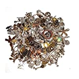 Vintageparts | Ciondolo in metallo | Mix 100 gr | Connettori di perle di metallo per collana | Charm Mix Multicolore | Argento Oro | Gioielli fai da te medaglione ciondolo catena M66