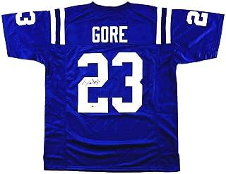 Signed Frank Gore Jersey - Custom Blue - Autographed NFL Jerseys