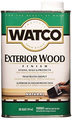 RUST-OLEUM WATCO 67741 Exterior Wood Finish, 1 Quart