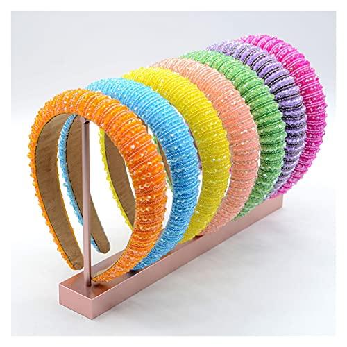 JJYGWBTS Banda para el Cabello Lindas Bandas de Cabeza de Color sólido para Salidas de Verano, Bandas, dinitas, Accesorios para el Cabello, 3 Paquetes aleatorios (Color : 3 Random)