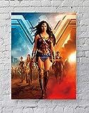 MeiMeiZ Wonder Woman Filmposter Standardgröße | 45,7 x 61