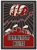 Communism Begins retro Kunstdruck Poster -ungerahmt- Bild