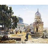 Decoracion de la Pared Cristiana Adoración de la Tierra Santa Israel Jerusalén Cuadros de la Pared de la Iglesia Impresión de la Lona Cristo Decoracion de la Sala de Estar del hogar 50x60cm Sin Marco