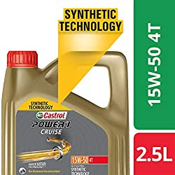 Castrol - 3413284 POWER1 Cruise 4T 15W-50 API SN Synthetic Engine Oil for Bikes (2.5L),Castrol,3413284,15w50,15w50 engine oil,2.5l engine oil,bike engine oil,castrol engine oil,castrol engine oil for bike,castrol oil,castrol oil for bike,castrol power 1,engine oil,engine oil for bike