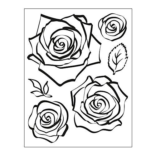 Viva Decor®️ Clear-Stamps (Rose) Silikon Stempel - Prägung Stempel - DIY Dekoration stanzen - Stempel Silikon - DIY Stamp - Stempel Prägung - Made in Germany