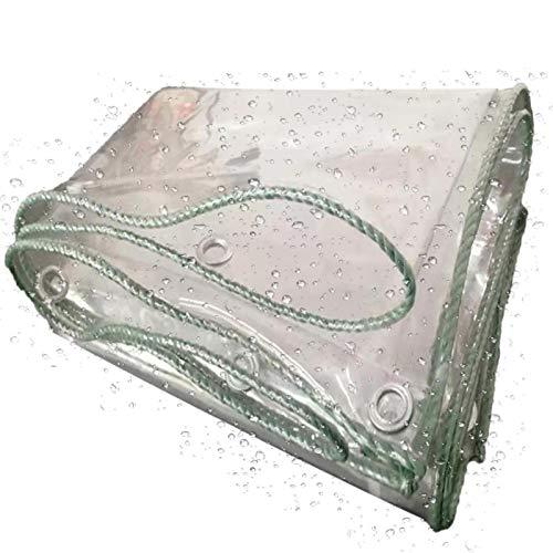 XINGLL Transparente Cobertura De Plástico, Antienvejecimiento Resistente Estiramiento, Prueba Lluvia Del Cobertizo Exhibición Invernadero Aire Libre, 400G/㎡, 0.3Mm ( Color : Clear , Size : 2.4x3M )