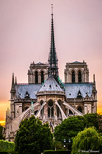Bdgjln Jigsaw Puzzles 1000 Pieces for Adults-Exterior view of Notre Dame de Paris-for Adult-Card board Puzzles-Relax Puzzle Games Puzzle-for Kids and Adults Gifts-50x75cm