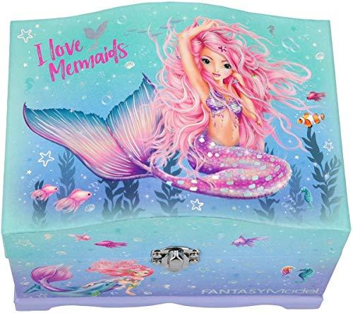 Depesche 11123 Fantasy Model Mermaid - Joyero con luz (18,5 x 13,5 x 13,8 cm)