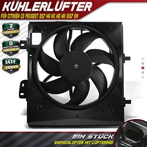 Koelventilator motorkoeling ventilator voor C3 FC_ HB_ 207 WA WC WD WK 1007 KM 2005-2014 9675280980
