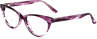 Firmoo Blue Light Blocking Computer Reading Glasses, Vintage Cateye Acetate Readers for Women with Magnification