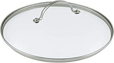GreenPan CW000084-004 28 cm Tempered Glass with Stainless Steel Rim Universal Glass Lid with Metal Handle
