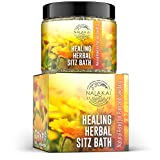 Organic Postpartum Sitz Bath Soak - Postpartum Bath Soak for After Birth Care - Natural Herbal Sitz Bath for Hemorrhoids Treatment - Heal and Soothe Damaged Perineal Tissues - Nalakai Naturals