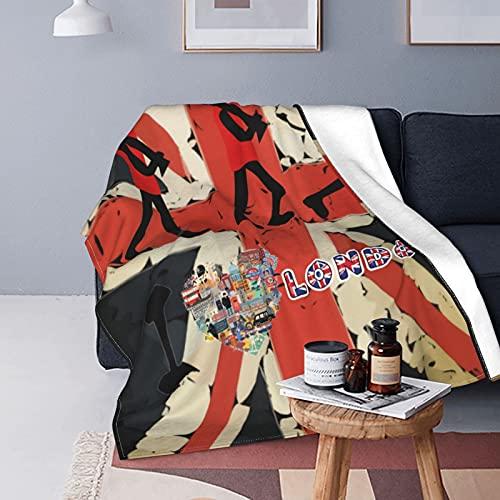 Union Jack Guards London England - Manta de forro polar para sofá, manta versátil, esponjosa y suave para cama y sofá de viaje, 200 x 60 pulgadas