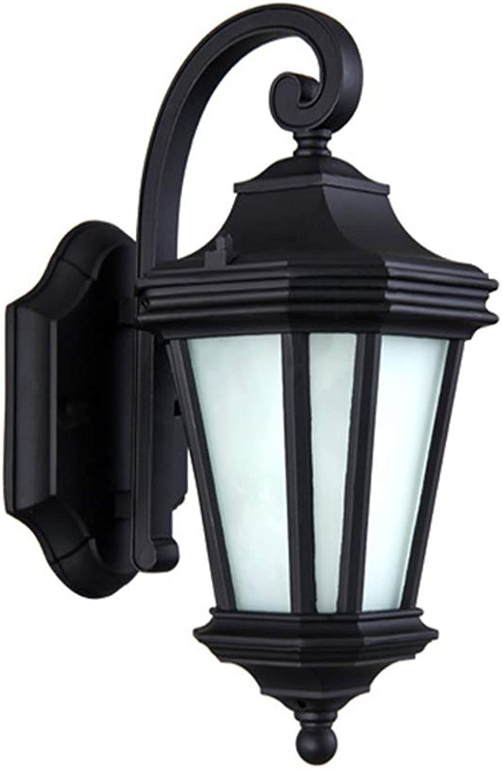 Outdoor Led Wall Sconce Octagon Lantern Wall Mounted Security Lights Garden Fence Yard Classic Simple Room Outdoor Wall Waterproof Garden Light Balcony Aisle Light (21  14  34cm)