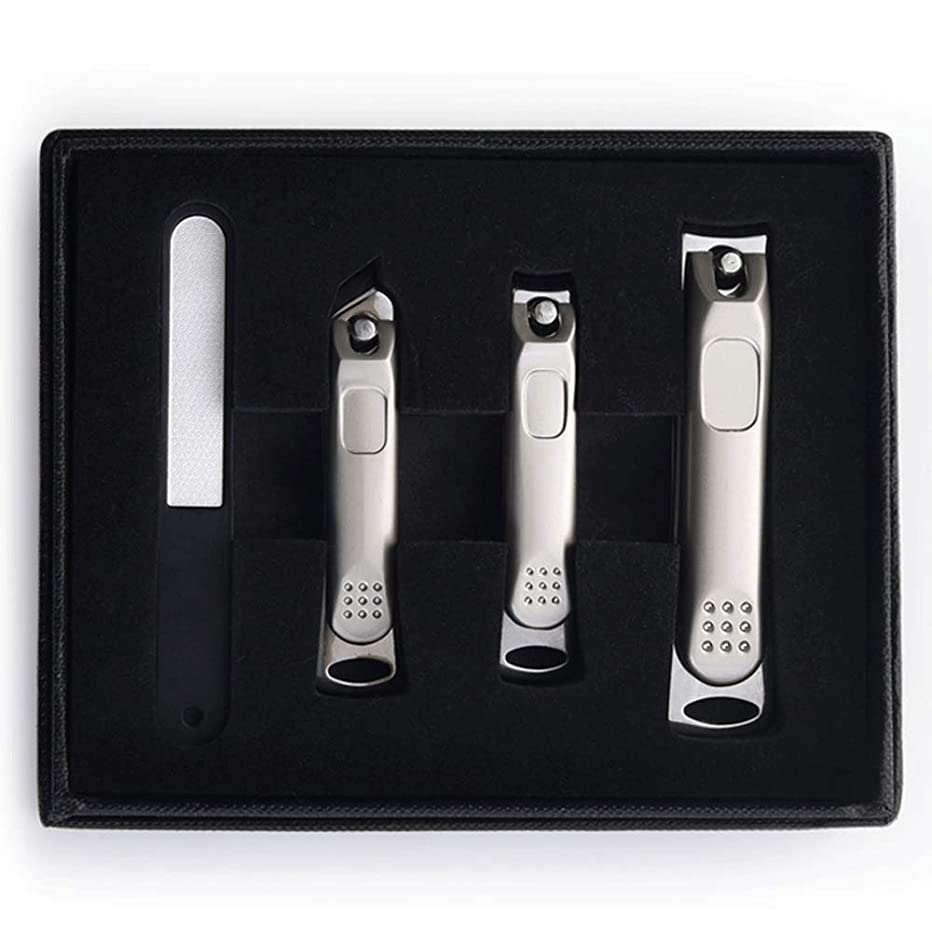 スーパーマーケット対抗虹ネイルクリッパーセットポータブル家庭用輸入ステンレス鋼トリムネイルクリッパーツール指の爪&足指の爪切り Blingstars (Color : Silver)