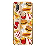 dakanna Coque pour [Wiko View 2] en Silicone Souple, Design [Hamburger, Sodas, Pizza et Pop-Corn]...