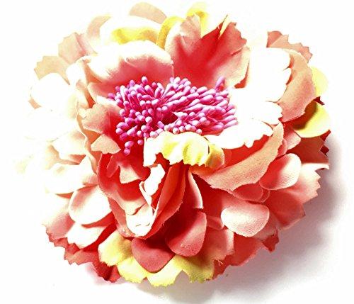 Haarblüte Haarschmuck Haarsprange Haarblumen Haarstecker Hochzeitblumen Party Mudan Blumen DIY Strand Blumen extra gross Accessoires Kleidblumen Schuhe Dekoration,viele Kombinationsmöglichkeiten (melone-rot)