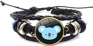 Teblacker BTS Bracelet | Unisex Kpop Bangtan Boys Jungkook, Jimin, V, Suga, Jin, J-Hope, Rap Monster Glass Gemstone Wristband Wristlet | Best Gift for The Army( KOYA)