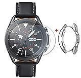 UCMDA Protector de Pantalla Samsung Galaxy Watch 3 45mm - [3+1 Pack] Anti-Burbujas, Scratch-Proof...