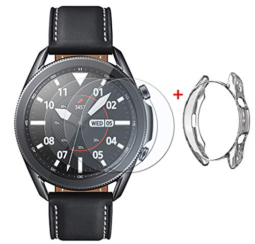 UCMDA - Pellicola proteggi schermo per Samsung Galaxy Watch 3, 45 mm, confezione da 3 pezzi, anti-bolle, antigraffio, pellicola protettiva per Samsung Watch 3, 45 mm