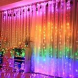 A2Z PVC Waterfall Curtain Long Net Mesh LED Jaal (Multicolour, 3x3m)