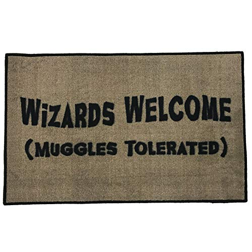 FloorMatShop Harry Potter Wizards Welcome Muggles Tolerated...