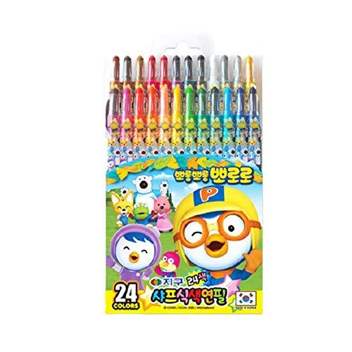 Twistables Colored Pencils Set 24 Vibrant Colors Art Supplies Pororo Design TPPI90990