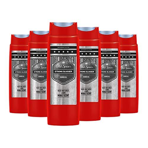 Old Spice Strong Slugger Duschgel, für Männer, 6er Pack (6 x 250 ml)