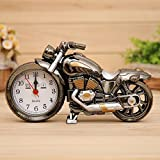 INNI 3D Home Decorative Motorcycle Alarm Plastic Cool Clock Birthday Gift Random Color