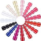 720 Pezzi 30 Set Unghie Finte Corte di Piedi 15 Colori Unghie Finte Quadrate Corte Unghie False a Copertura Totale Punte di Unghie Artificiali in Tinta Unita per Donne Ragazze Manicure