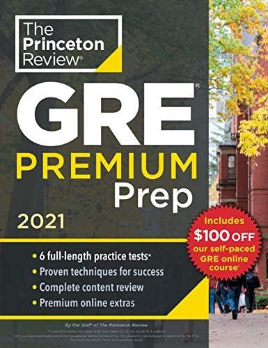 Princeton Review GRE Premium Prep 2021 6 Practice Tests Review Techniques Online Tools Graduate product image