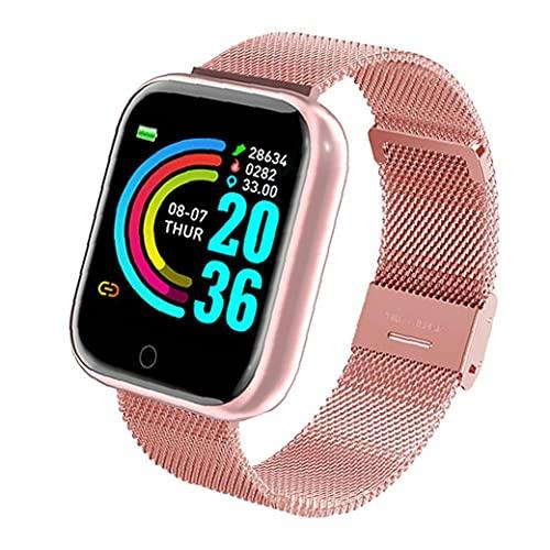 YepYes Reloj Elegante Y68 Hombres Mujeres Fitness Sport SmartWatch, Impermeable USB Banda Reloj del perseguidor, presión Arterial Reloj del Ritmo cardíaco rastreador de Ejercicios Rosa
