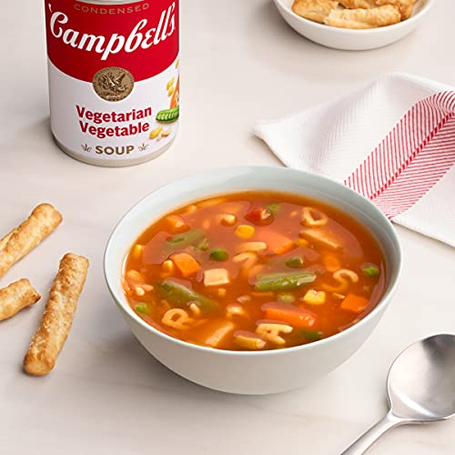 Campbell'sCondensed Vegetarian Vegetable Soup, 10.5 oz. Can (Pack of 12) (Packaging May Vary)