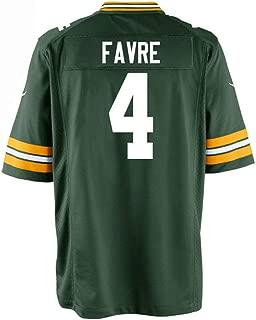 ECMMK Men/Women/Youth Brett_Favre Jersey_#4 for Football Gifts Jerseys Green