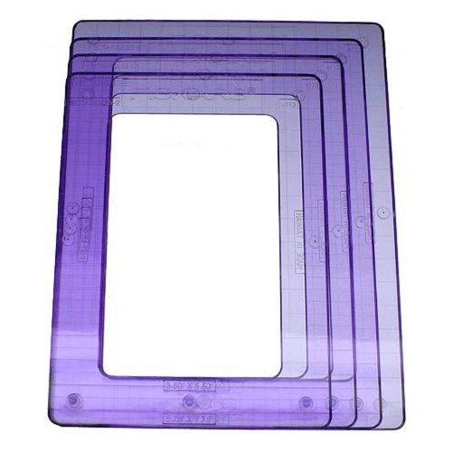 Fiskars 12-49137097 Shape Template Set, Large Rectangle